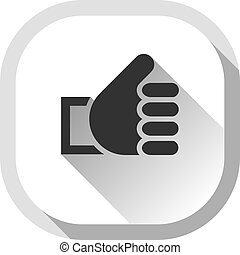 Thumb up, gray button