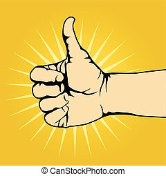 Thumb up hand gesture - like gesture