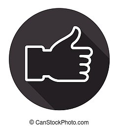 Thumb Up Hand Gesture Like Icon