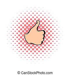 Thumb up icon, comics style