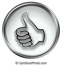 thumb up icon grey