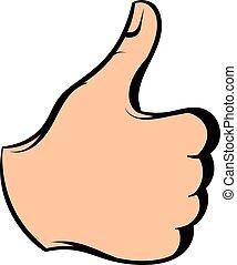 Thumb up icon, icon cartoon