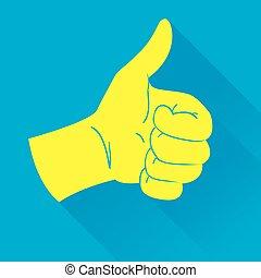 Thumb Up Icon Illustration