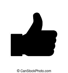 Thumb up icon, like finger vector illustration sign, business social web button
