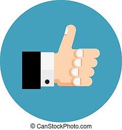 Thumb up icon, like