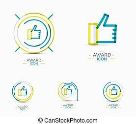 Thumb up icon, logo design