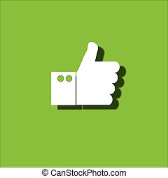 Thumb up icon. Vector eps