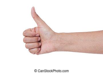thumb up , isolated on white background