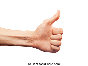 thumb up isolated over white background