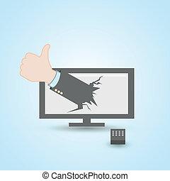 Thumb up Lcd television