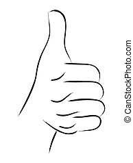 Thumb Up Line Art