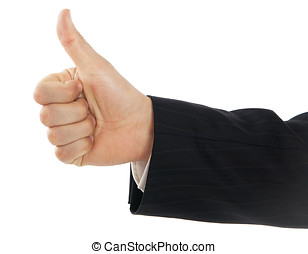 Thumb Up - Male hand with like thumb up gesture.
