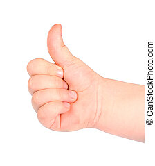 Thumb up  -  Thumb up of a children's hand