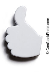 Thumb up okay sign badge