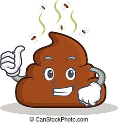 Thumb up Poop emoticon character cartoon