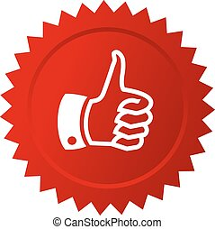Thumb up red star - Thumb up red vector star