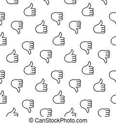 Thumb up seamless pattern