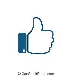 Thumb up sign icon