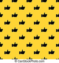 Thumb up sign pattern vector