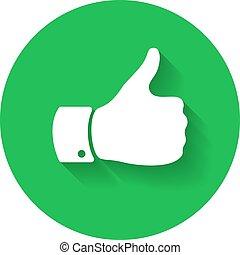 Thumb up symbol. Human hand icon. Sign of Like
