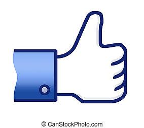 Thumb Up Symbol - Illustration of the thumb up hand....