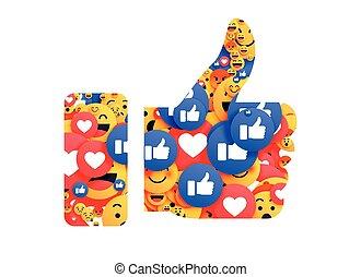 thumb up symbol made with emoji