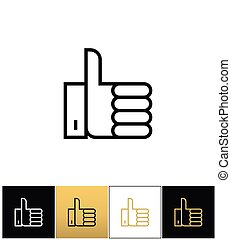 Thumb Up symbol or best choice vector icon