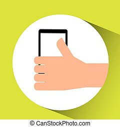thumb up tablet icon