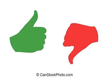 thumb up thumb down color icon