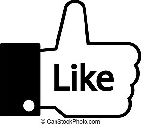 Thumb up. - Thumb up on white background. Vector...
