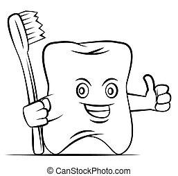 Thumb Up Tooth Mascot