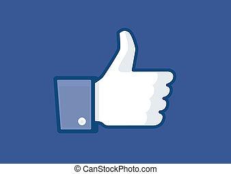 Thumb up v3 vector