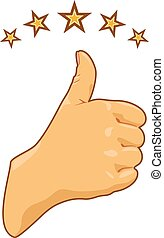 Thumb up. Vector illustration