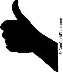 thumb up vector silhouette