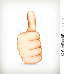 Thumb up, vector