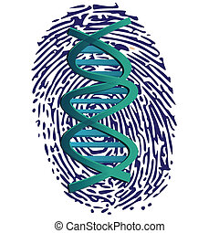 thumbprint and DNA