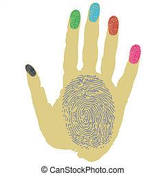 thumbprint on fingers