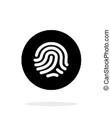 Thumbprint scanner icon on white background.