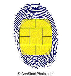 thumbprint with memory chip