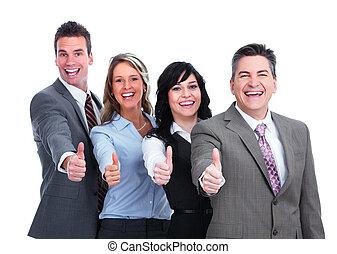 thumbs., 幸せ, ビジネス 人々