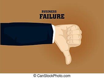 Thumbs Down Gesture Cartoon for Business Failure Vector ...