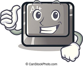 Thumbs up alt button isolated with the mascot