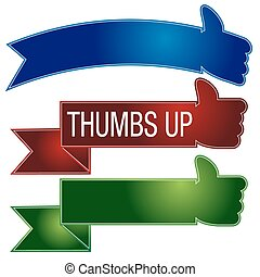 Thumbs Up Banner Set - An image of a thumbs up banner set.