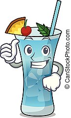 Thumbs up blue hawaii character cartoon