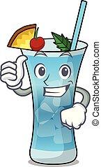 Thumbs up blue hawaii character cartoon