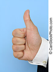 Thumbs up - Businessman with thumbs up
