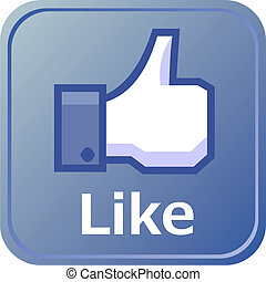 Thumbs up button - like button