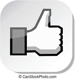 like button - Thumbs up button - like button, vector Eps 10 ...