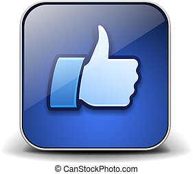 Thumbs up button - like icon.