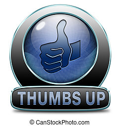 thumbs up button